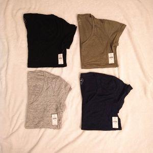 NWT Gap bundle 4 v neck short sleeve linen tees